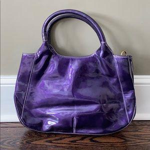 Gorgeous shiny purple bag. Brand new